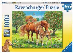 Ravensburger Puzzle Premium 105779 Koně na pastvě 100 XXL dílků