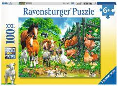Ravensburger Puzzle Premium 106417 Zvířata spolu 100 XXL dílků