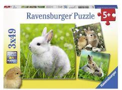 Ravensburger Puzzle Premium 80410 Malý králíčci 3x49 dílků