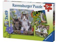 Ravensburger Puzzle Premium 80465 Koťata 3x49 dílků