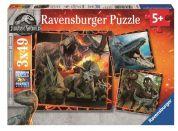 Ravensburger Puzzle Premium 80540 Jurský svět Zánik říše 3x49 dílků