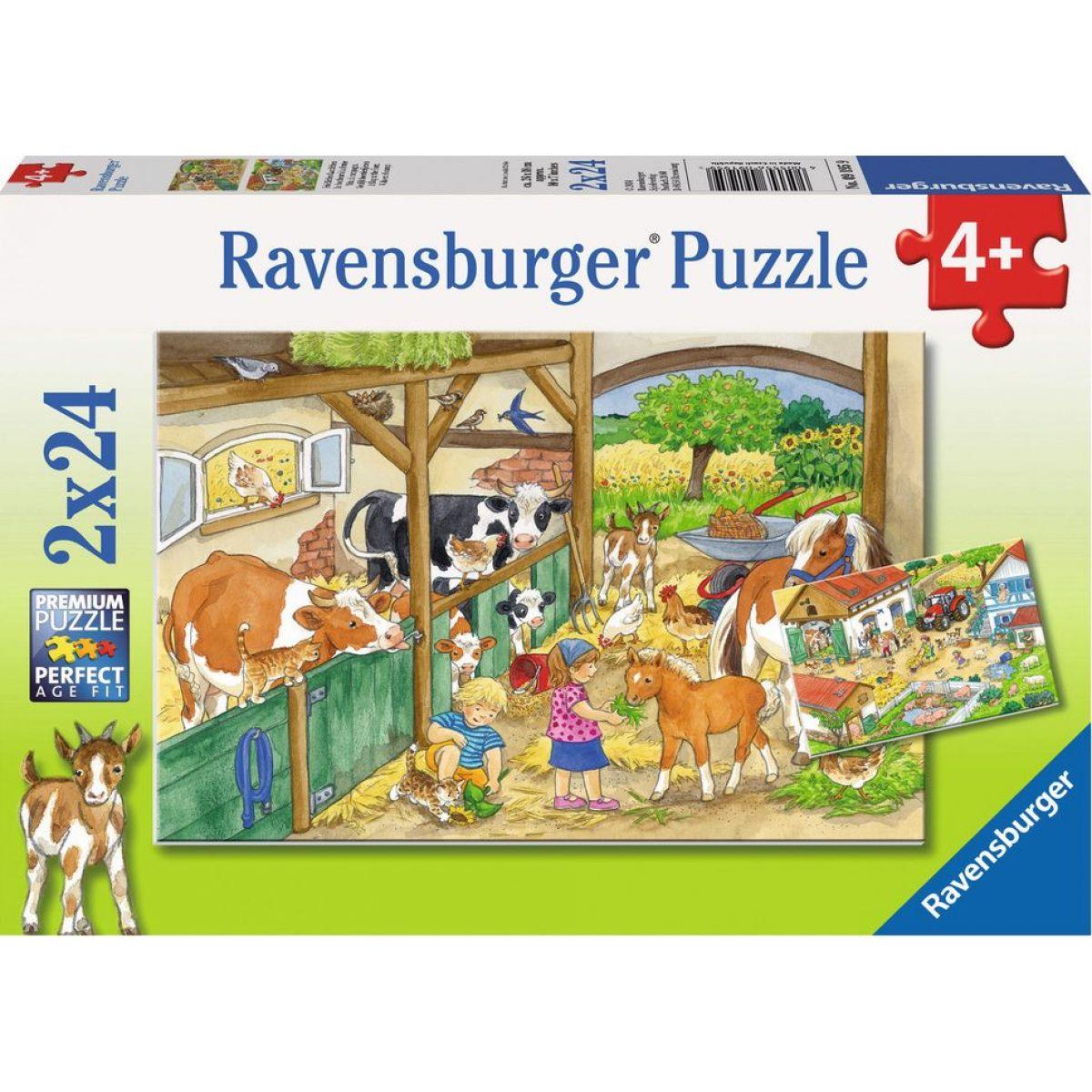 Ravensburger Puzzle Radostný život na venkově 2 x 24 dílků