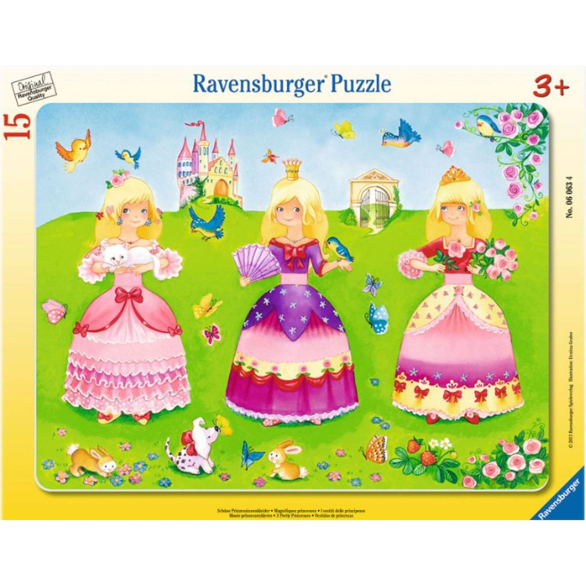 Ravensburger puzzle Šaty krásných princezen 15 dílků