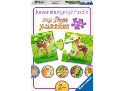Ravensburger puzzle Sladcí obyvatelé lesa 9x2 dílků