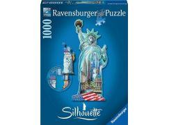 Ravensburger puzzle Socha Svobody silueta 1000 dílků