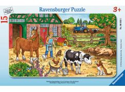 Ravensburger puzzle Šťastný život na statku 15 dílků