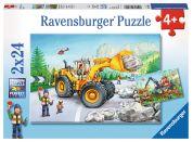 Ravensburger Puzzle Stroje v akci 2x24 dílků