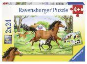 Ravensburger Puzzle Svět koní 2x24 dílků