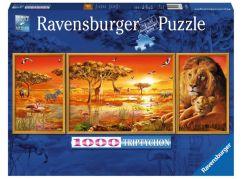 Ravensburger Puzzle Triptychon 198368 Africké veličenstvo 1000 dílků