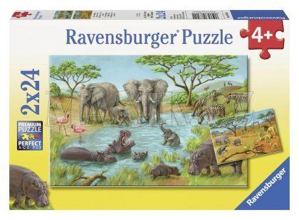 Ravensburger Puzzle V divočině 2x24 dílků