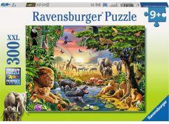 Ravensburger Puzzle Večerní slunce u vodní tůně 300 dílků