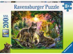 Ravensburger puzzle Vlčí rodina 200 dílků