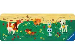 Ravensburger Puzzle Wooden 032358 Zvířecí kámoši 5 dílků