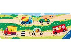 Ravensburger Puzzle Wooden 032365 První vozidla 5 dílků
