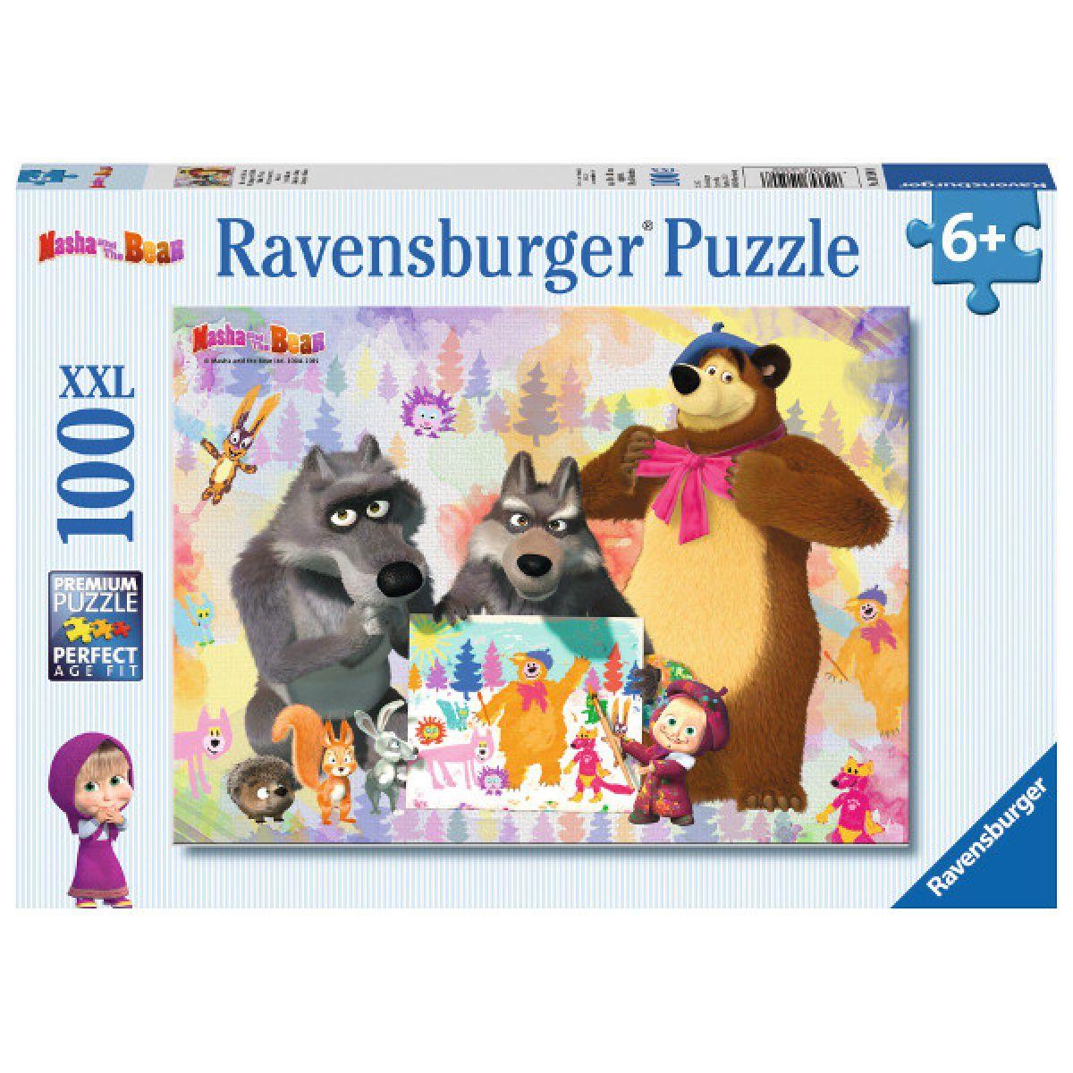 Ravensburger Puzzle XXL Máša a medvěd 100 dílků