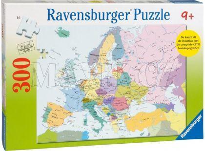 Ravensburger Puzzle XXL Mapa Evropy 300 dílků