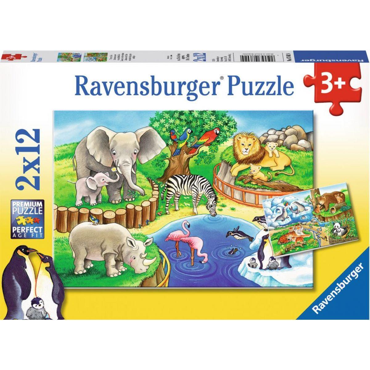 Ravensburger Puzzle Zvířata v zoo 2x12 dílků