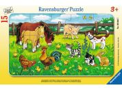 Ravensburger puzzle Zvířata ze statku na louce 15 dílků