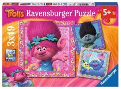 Ravensburger Trolové Puzzle Veselé přátelé 3x49 dílků