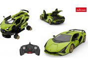 RC auto1:18 Lamborghini Sian stavebnice zelený