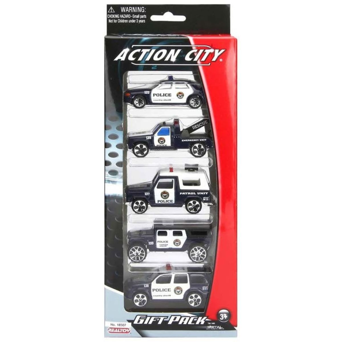 Realtoy Sada autíček Policie 5ks
