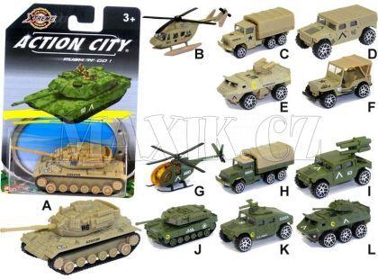 Realtoy Vojenská technika na blistru - Tank zelený