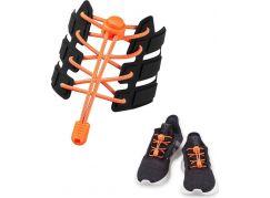 Reflexní elastické tkaničky oranžové