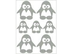 Reflexní nažehlovací motivy tučňák