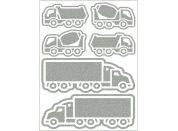 Reflexní nažehlovací motivy náklaďák