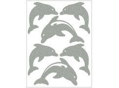 Reflexní nažehlovací motivy delfín