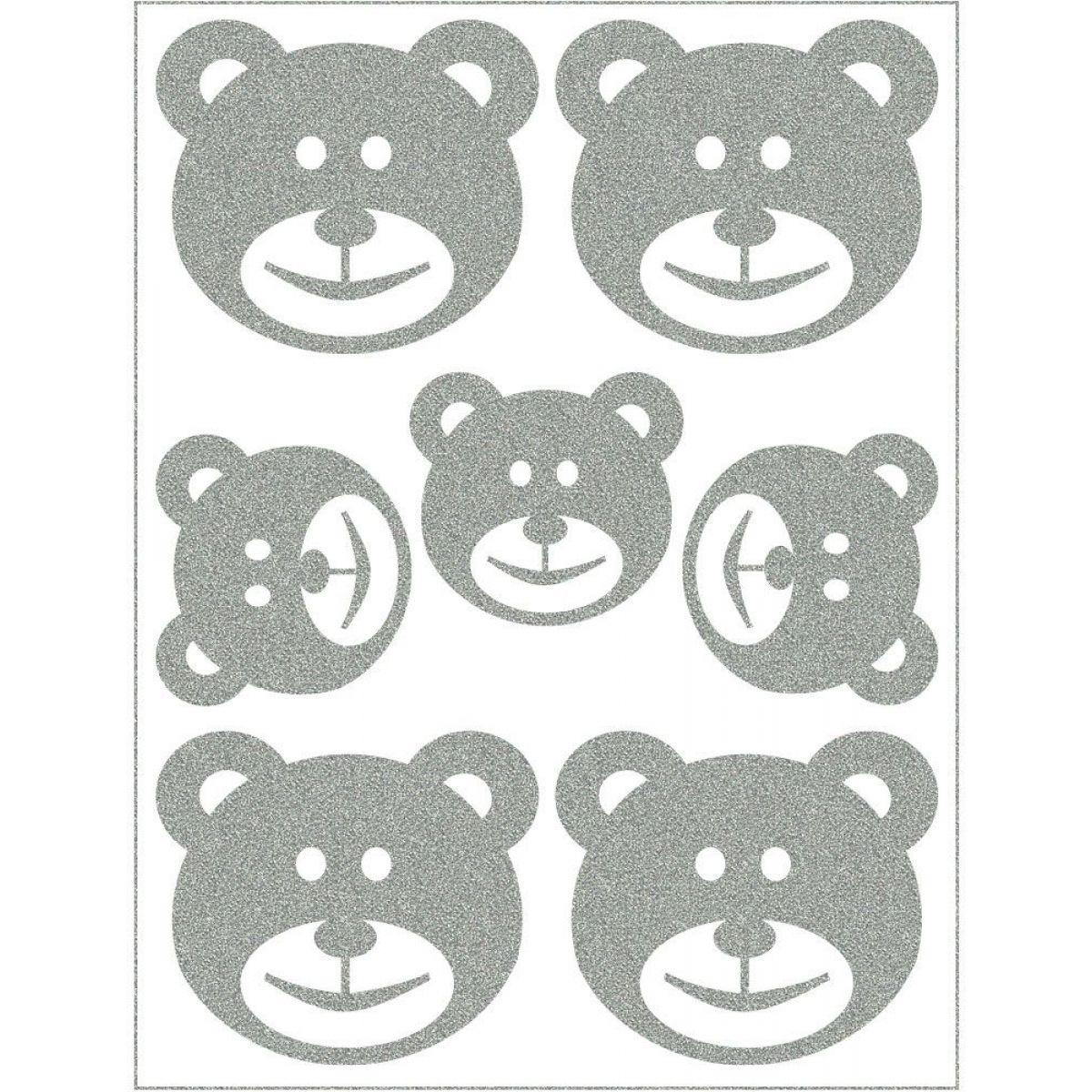 Reflexní nažehlovací motivy medvídek