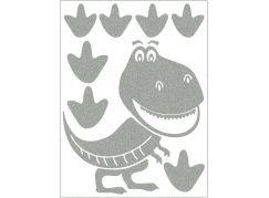 Reflexní nažehlovací motivy dinosaurus
