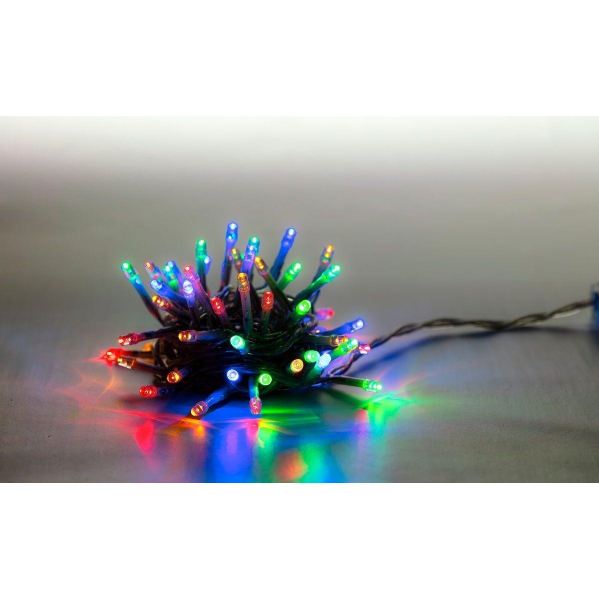 Řetěz světelný 100 LED 5 m barevná transparent kabel