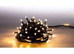 Řetěz světelný 100 LED 5 m teplá bílá zelený kabel 8 funkcí