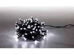 Řetěz světelný 400 LED 20 m studená bílá 8 funkcí