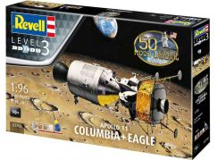 Revell Gift-Set 03700 Apollo 11 Columbia & Eagle 50 Years Moon Landing 1:96