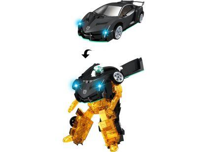 Robocarz 2 v 1 Sportovní auto 1:32 2 černo-oranžová