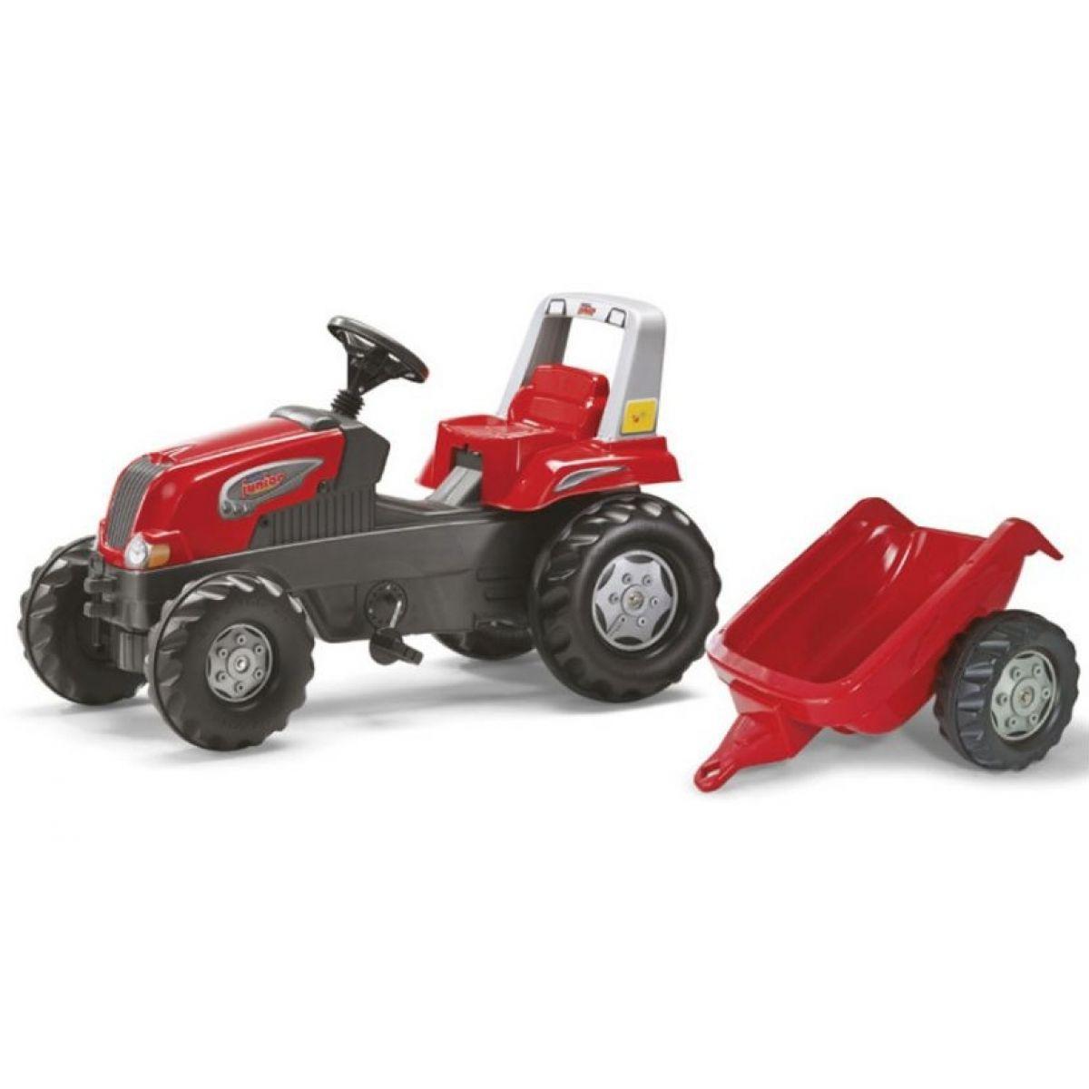 Rolly Toys Šlapací traktor Rolly Junior s vlečkou Červený