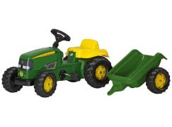 Rolly Toys Šlapací traktor Rolly Kid J.Deere s vlečkou Zelený