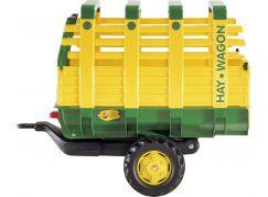 Rolly Toys Vlečka na seno za traktor jednoosá Hay Wagon - zelenožlutá