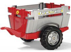Rolly Toys Vlečka za traktor jednoosá Farm Trailer - stříbročervená