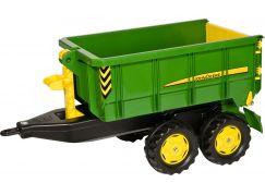 Rolly Toys Vlečka za traktor John Deere vyklápěcí zelená