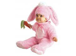 Rubie's Baby kostým - růžový králíček (12-18m)