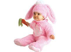 Rubie's Baby kostým - růžový králíček (6-12m)