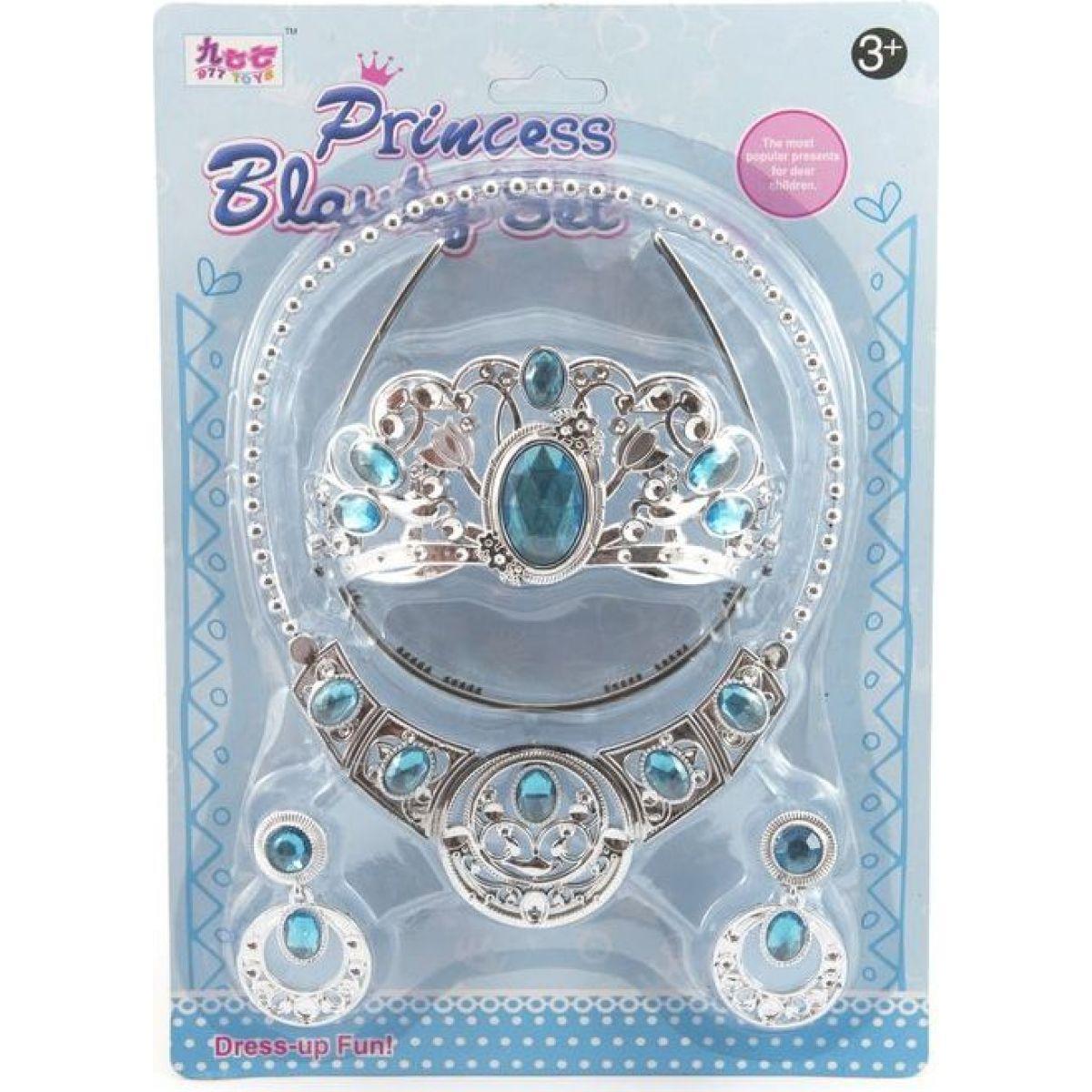 Sada krásy s plastovou korunkou a náhrdelníkem s naušnicemi