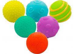 Sada míčků 6ks s texturou gumové 6 cm