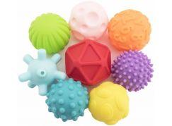 Sada míčků 8ks s texturou gumové 6-7 cm