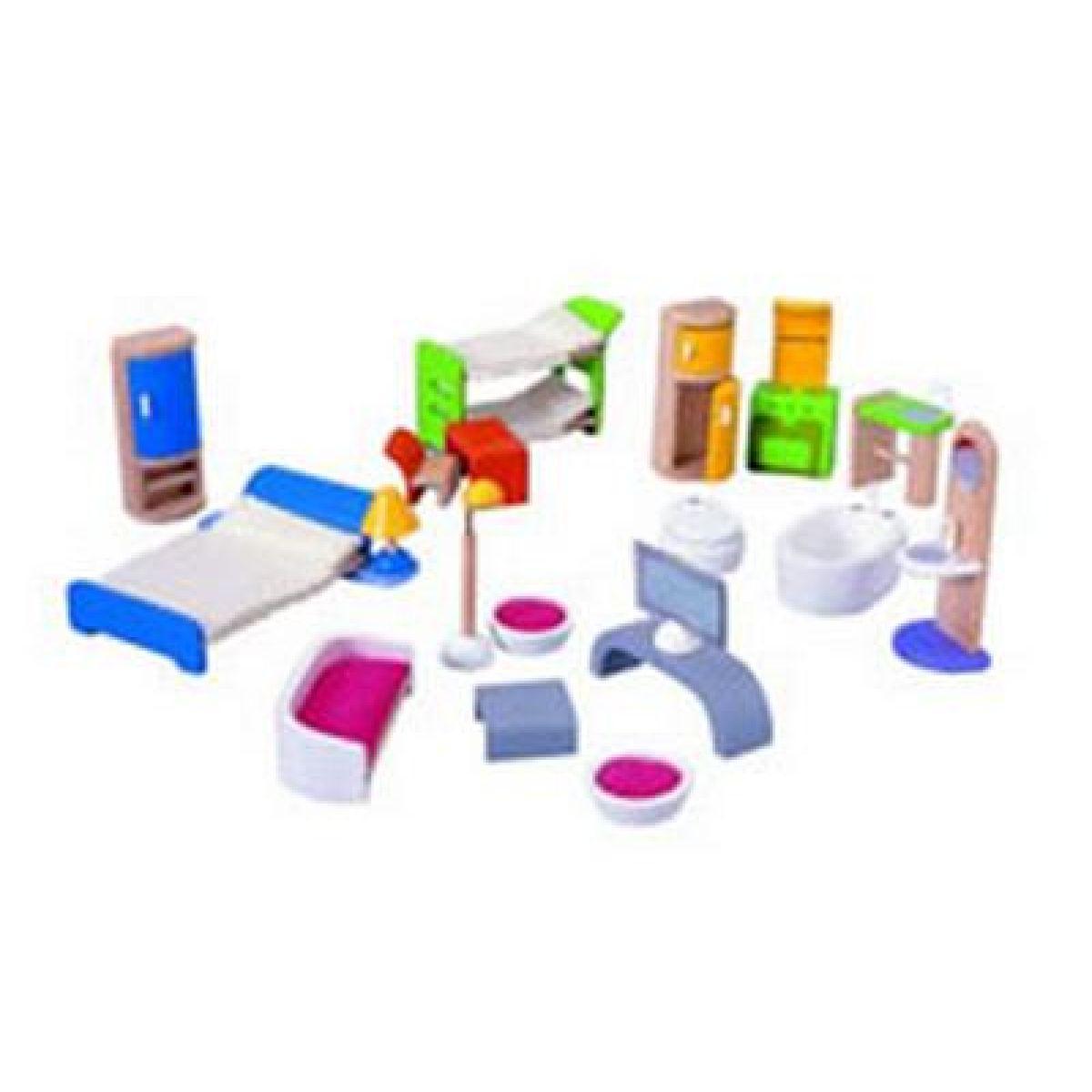 Sada moderního nábytku do domečku Plan Toys