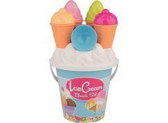 Sada na písek zmrzlina a cup cake modrý kyblík