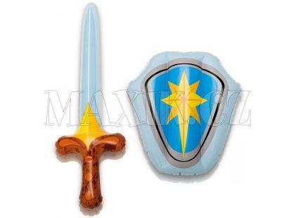 Sada nafukovací štít a meč Intex 44600 - Modrá